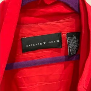 Red silk jacket